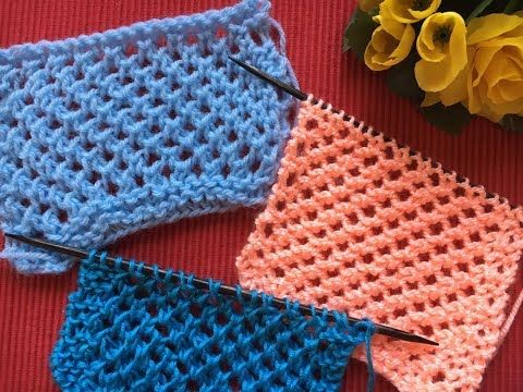 Photo of Knitted lace pattern, super simple, only right stitches, on both sides
