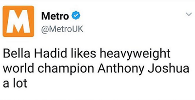 Nigerian Lady Reacts To Bella Hadid Loving OUR OWN Anthony Joshua