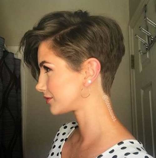Side-View-Of-A-Short-Haircut Outstanding - Hair Beauty