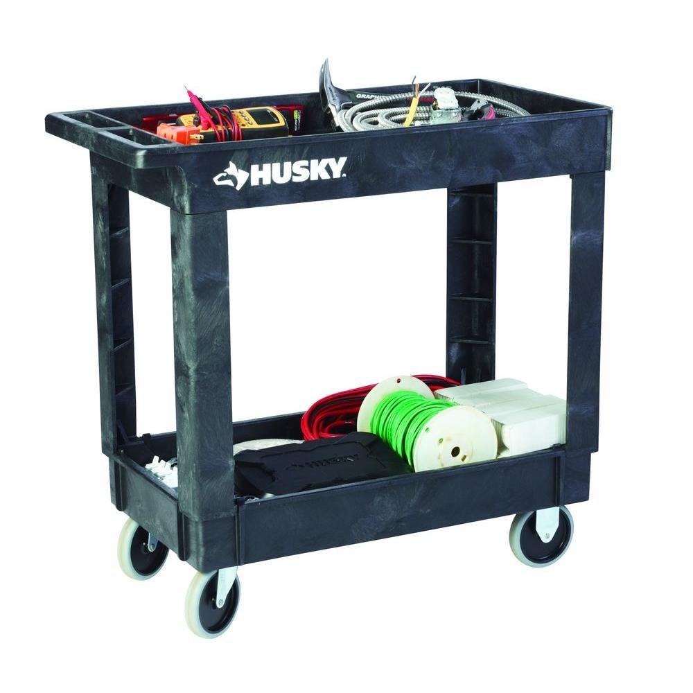 2 Shelf Utility Cart, Black 1866880   The Home