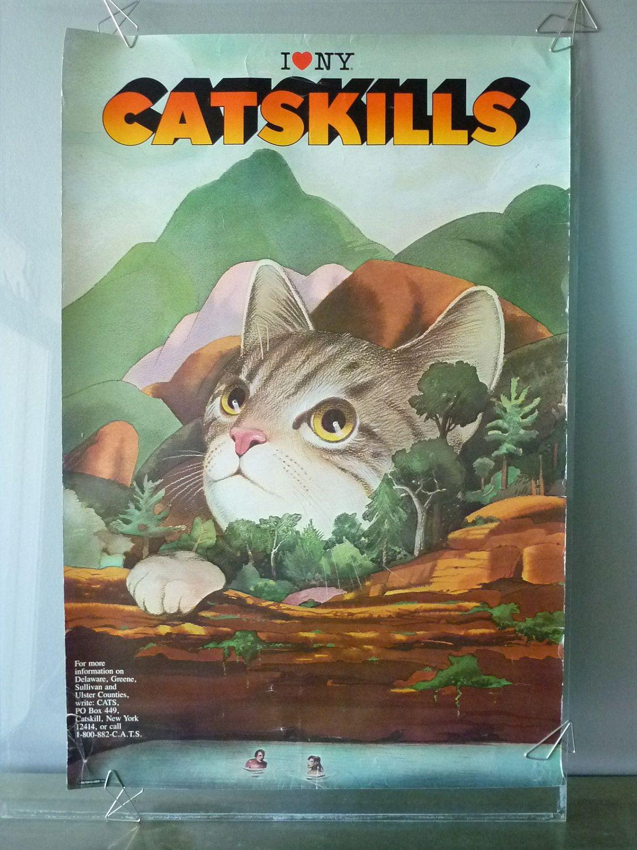 Milton Glaser 'I Love NY' Catskills Cats Poster Cat