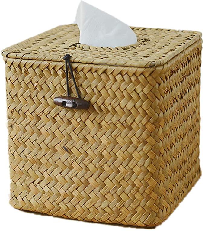 Raincol Morava Square Seagrass Facial Tissue Box D