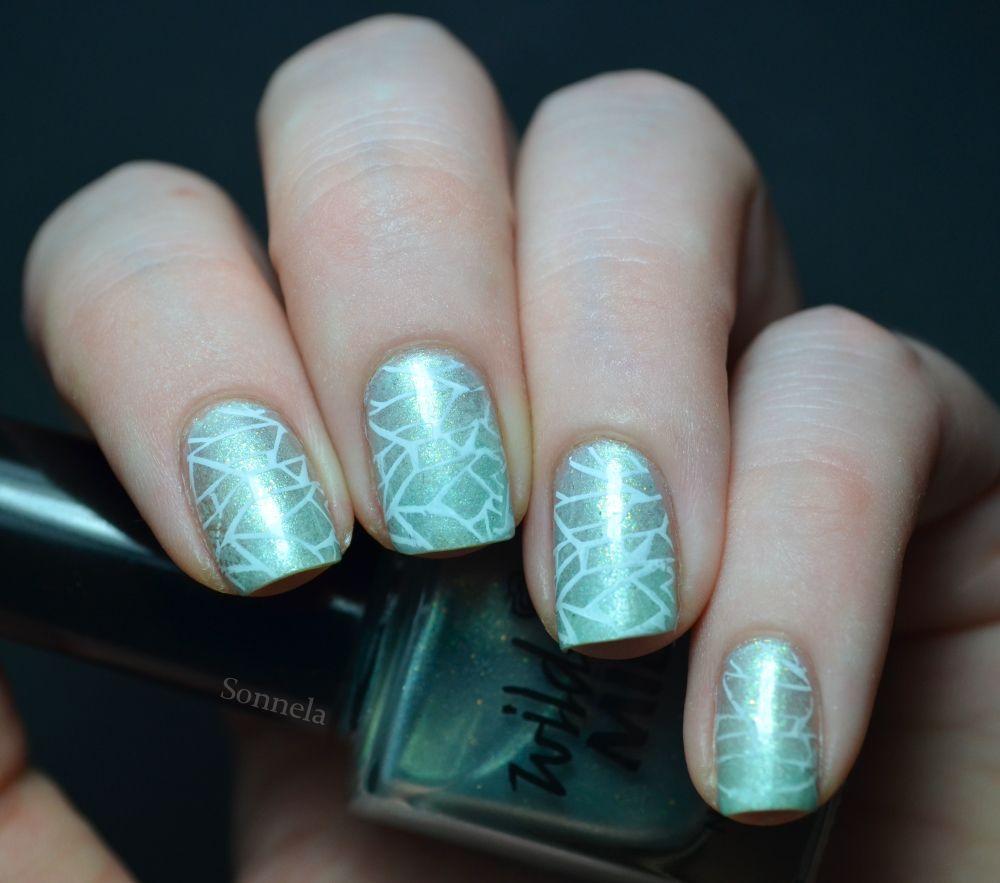 mosaic nail design - nailart