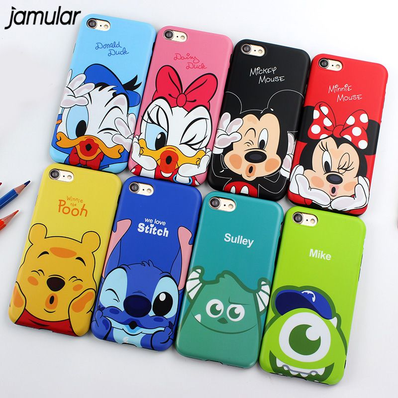 1e5c1dd80d9 comprar Jamular Minnie Mickey Mouse Donald Margarita pato suave TPU funda  para iPhone x 7 8 más Carcasas para iPhone 6 S 7 más Tapas capa