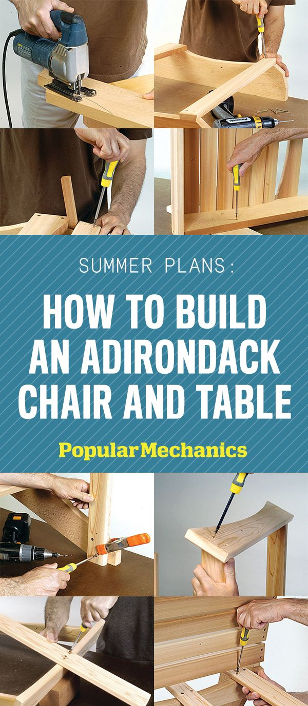 Summer Plans How To Build An Adirondack Chair And Table