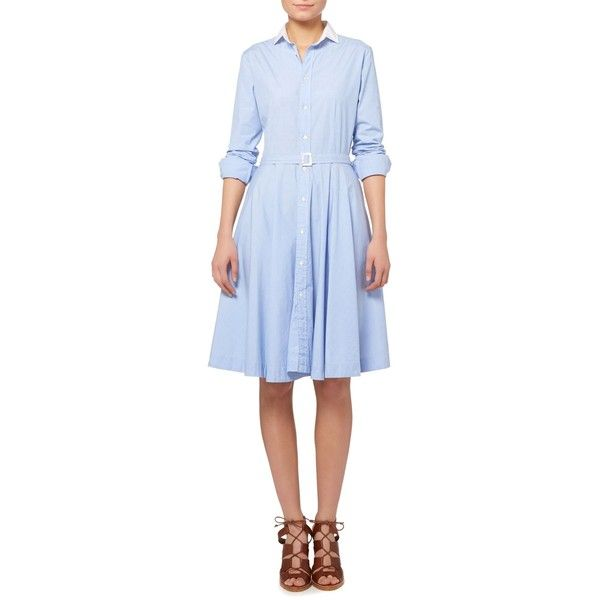 Polo Ralph Lauren Dori Long Sleeve Shirt Dress With White Collar 205 Liked On Polyvore Featuring Dresses