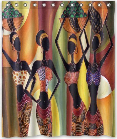 Hot Design Afro American Women Shower Curtain 60 Quot W X
