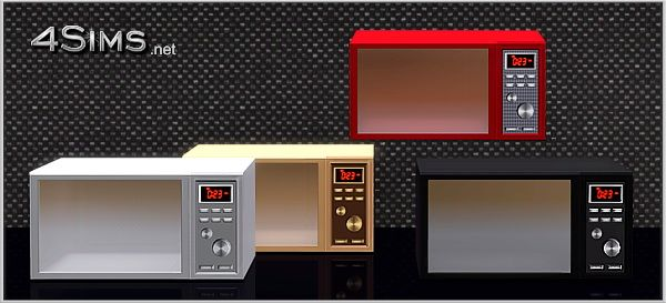 Premium microwave oven for Sims 3 by 4Sims | Sims 3 ...