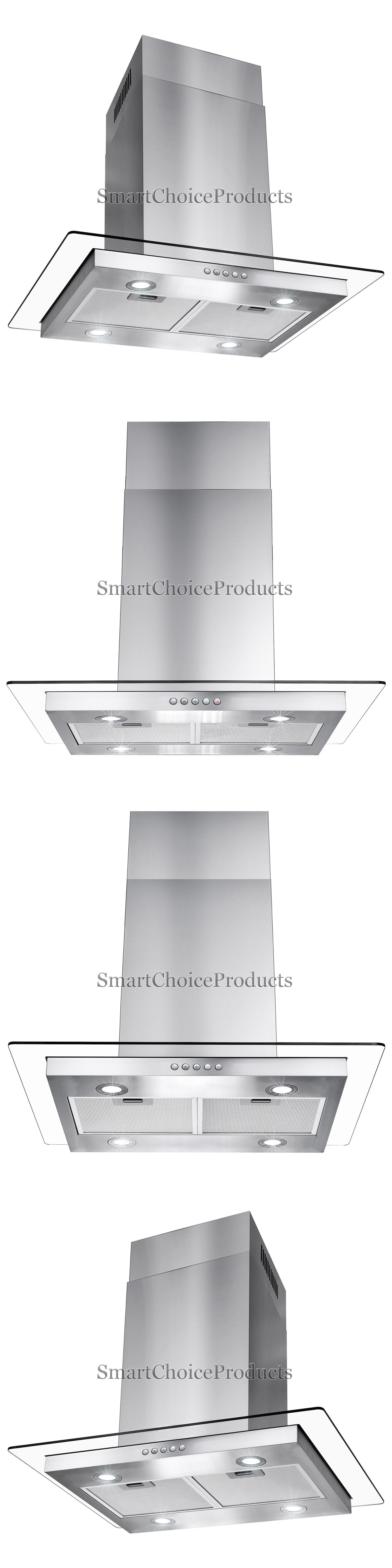 Range Hoods 71253: 30 Flat Glass Stainless Steel Island Canopy ...