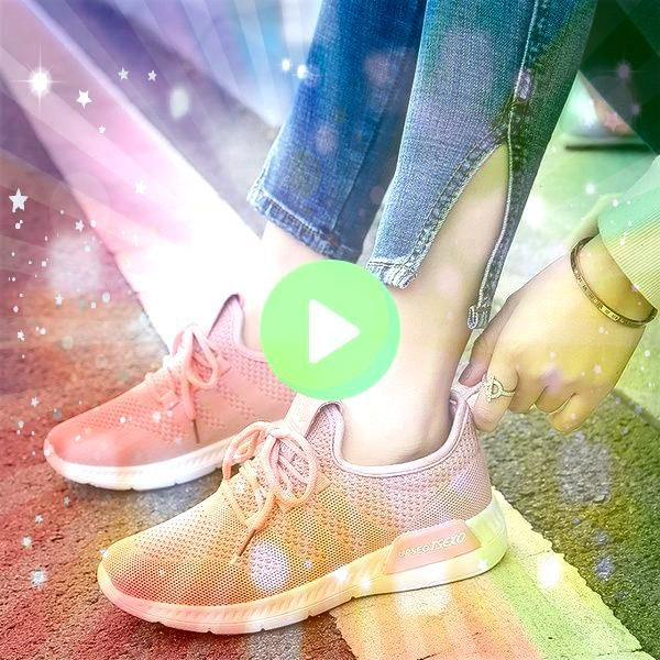 Spring and Summer Fashion Ladies Flying Mesh Breathable Sports Shoes Korean Leisure Runn 2018 Spring and Summer Fashion Ladies Flying Mesh Breathable Sports Shoes Korean...