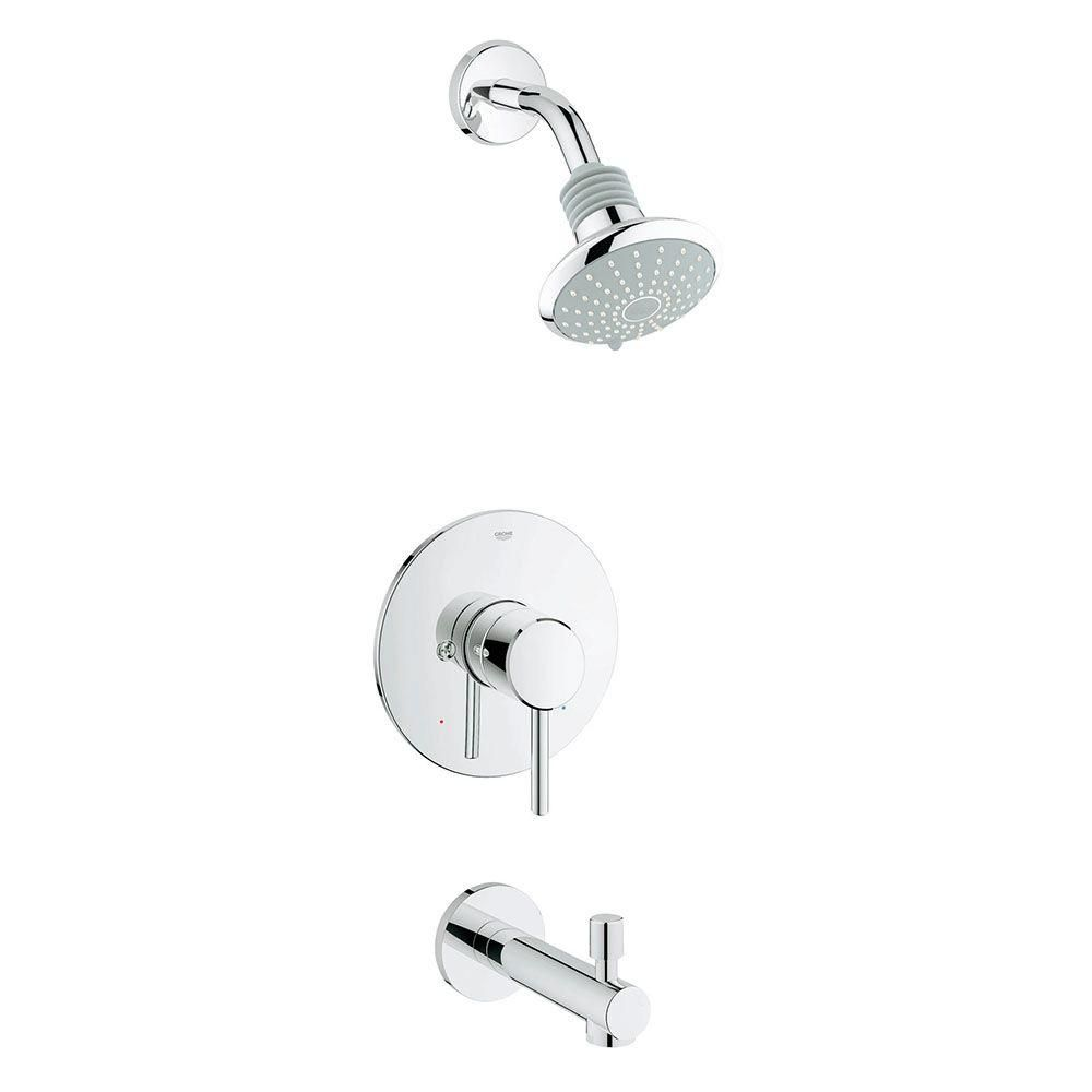 Grohe Concetto Single Handle Tub And Shower Faucet In Starlight
