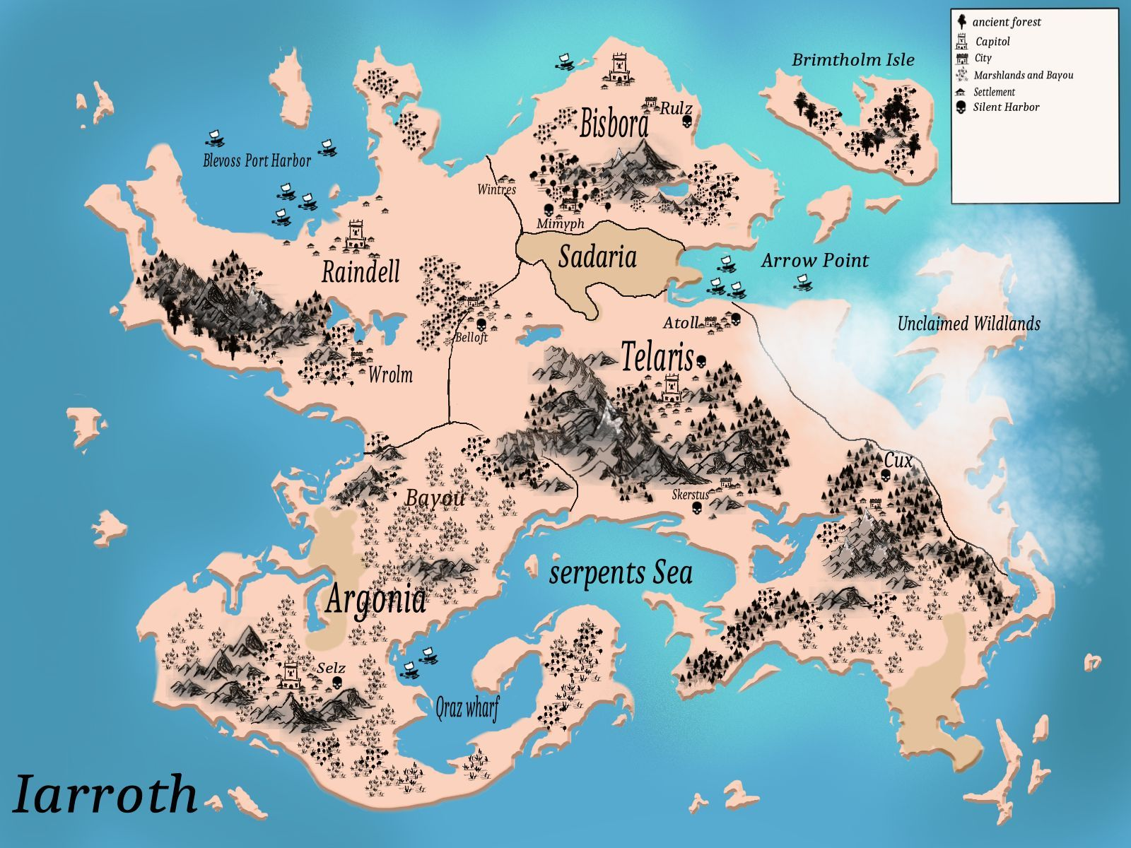 This is the map of my world iarroth different lands with different this is the map of my world iarroth different lands with different kinds of people gumiabroncs Gallery