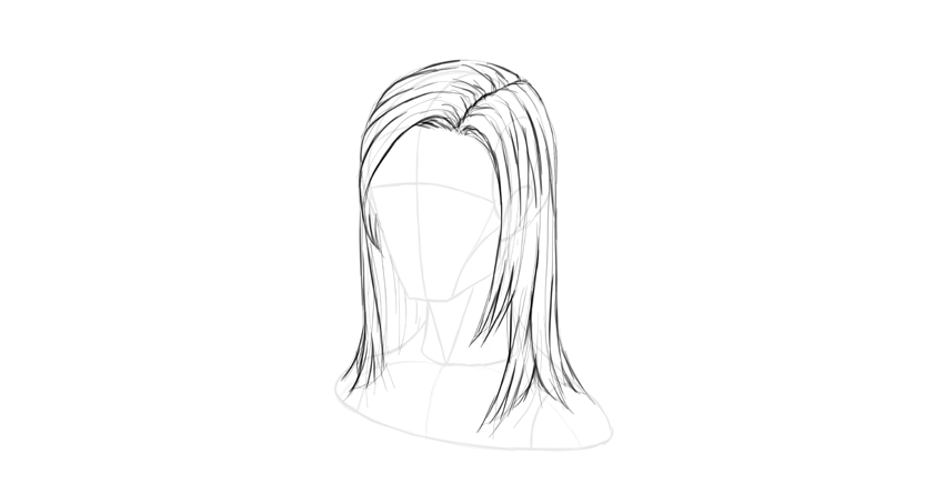 How To Draw Hair Step By Step Step By Step Hairstyles How To Draw Hair Straight Hairstyles