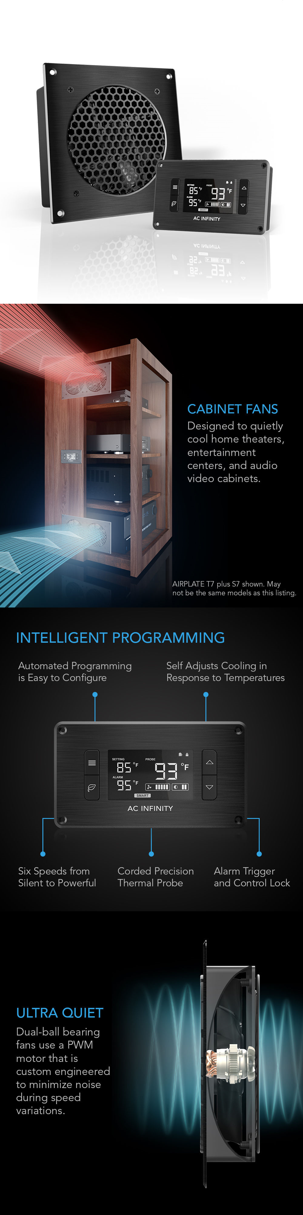 Other TV Video And Audio Accs: Airplate T3, Cooling Fan System 6 Thermostat  Control