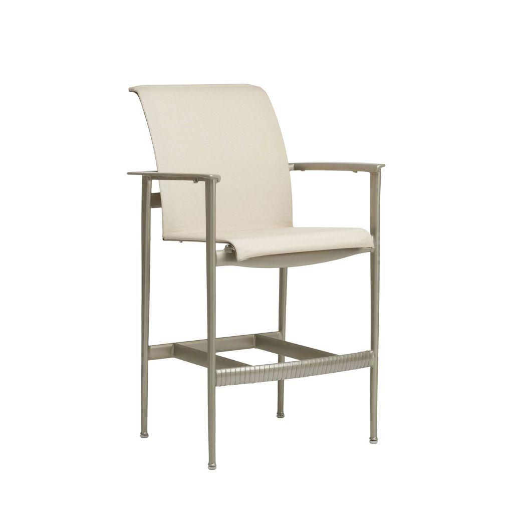 Brown Jordan Flight Sling Bar Chair Brown Jordan Outdoor Furniture Leather Dining Room Chairs Outdoor Bar Furniture