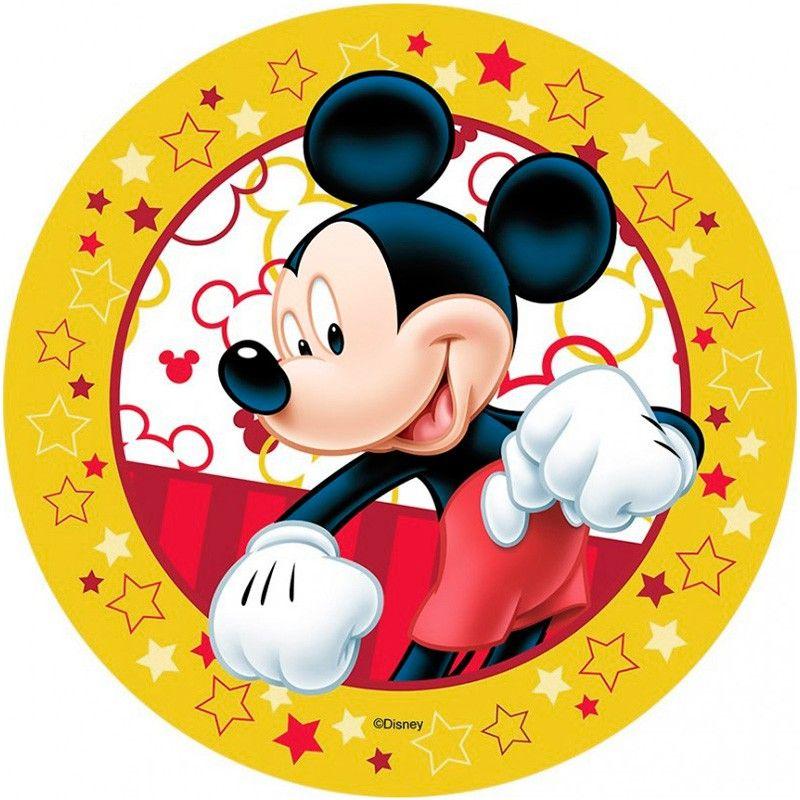 Oblea Comestible Para La Decoración De Tartas Con Dibujo De Mickey 2 Diámetr Cumpleaños De Mickey Mouse Fiestas Mickey Mouse Decoracion Fiesta De Mickey Mouse