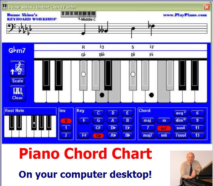 Instant Piano Chords Finder Software  Download it right now to your