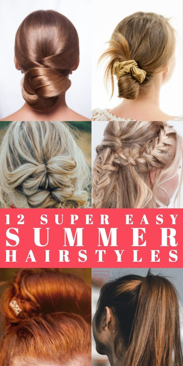 5 Minute Summer Hairstyles Step By Step: 12 Easy Summer Hair Tutorials