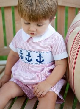 Smocked Bubble Anchor Kids Clothes Sale Smocking