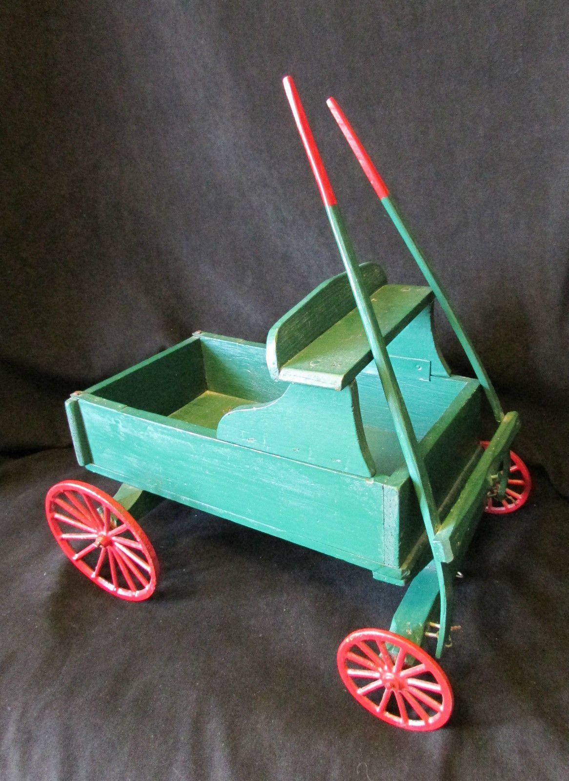 Adorable primitive folk farm wagon circa 1910 ebay