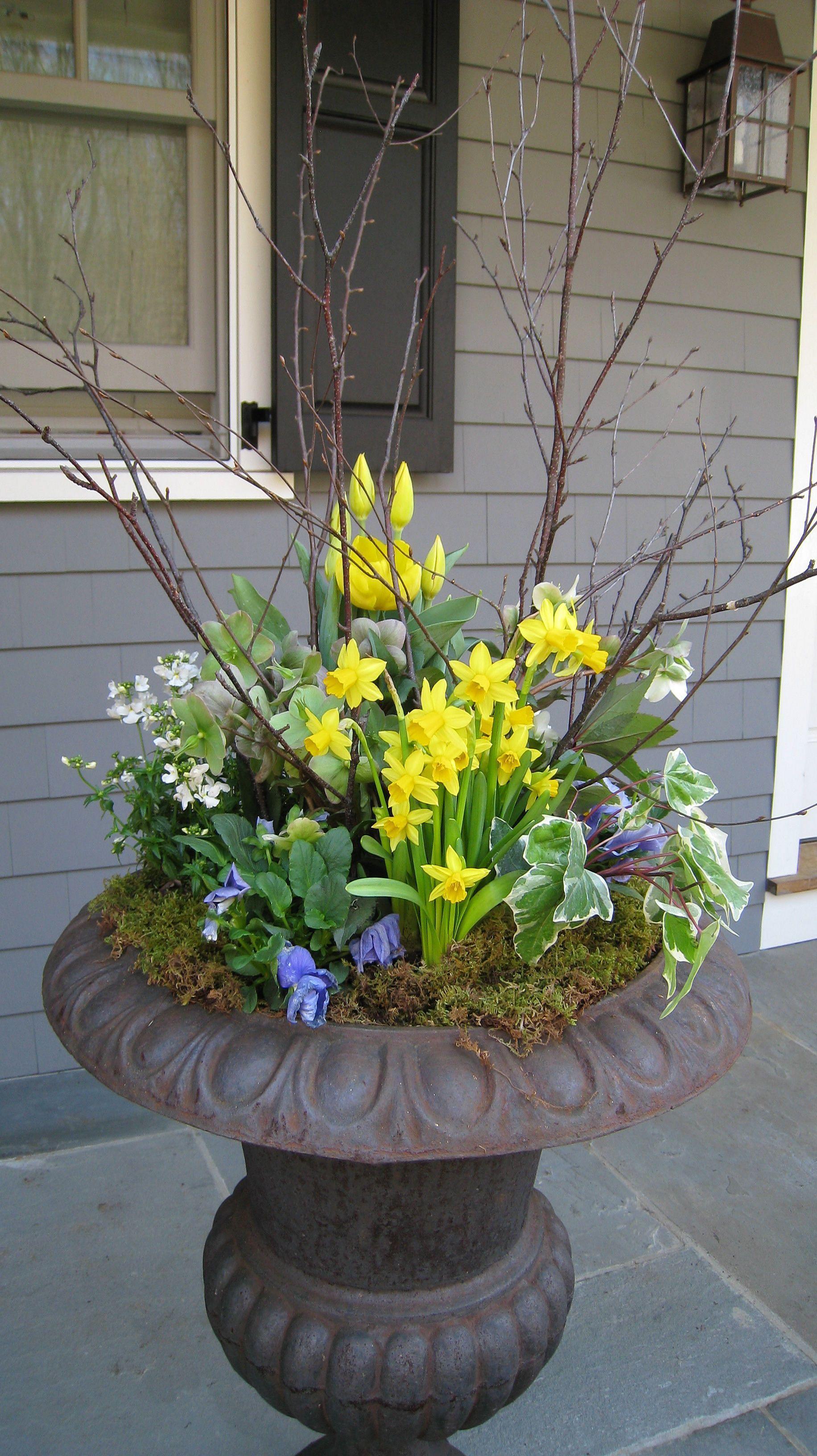 Spring Outdoor Flower Pot Arrangement Ideas Flower Pots Outdoor