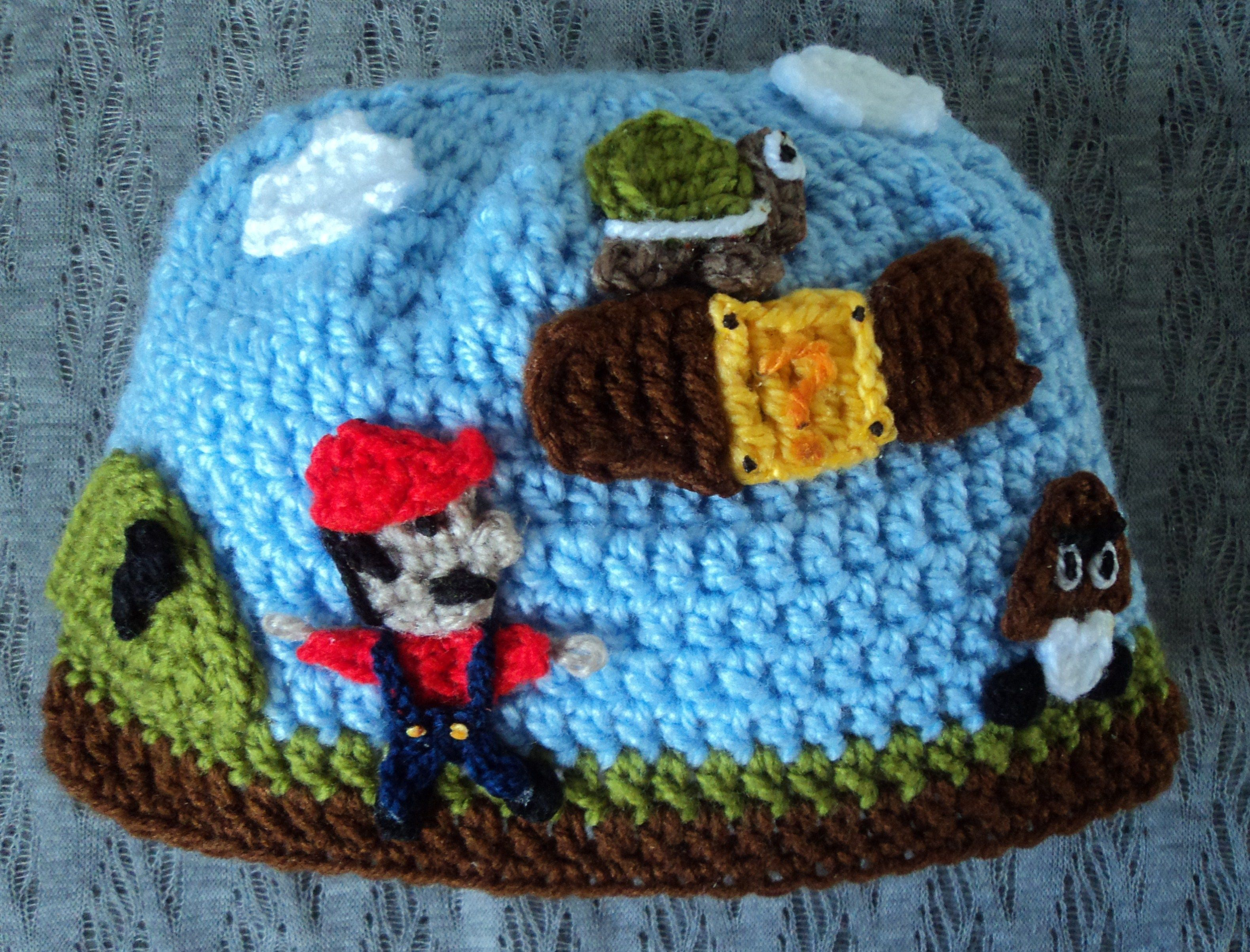 Gorro Mario Bros crochet
