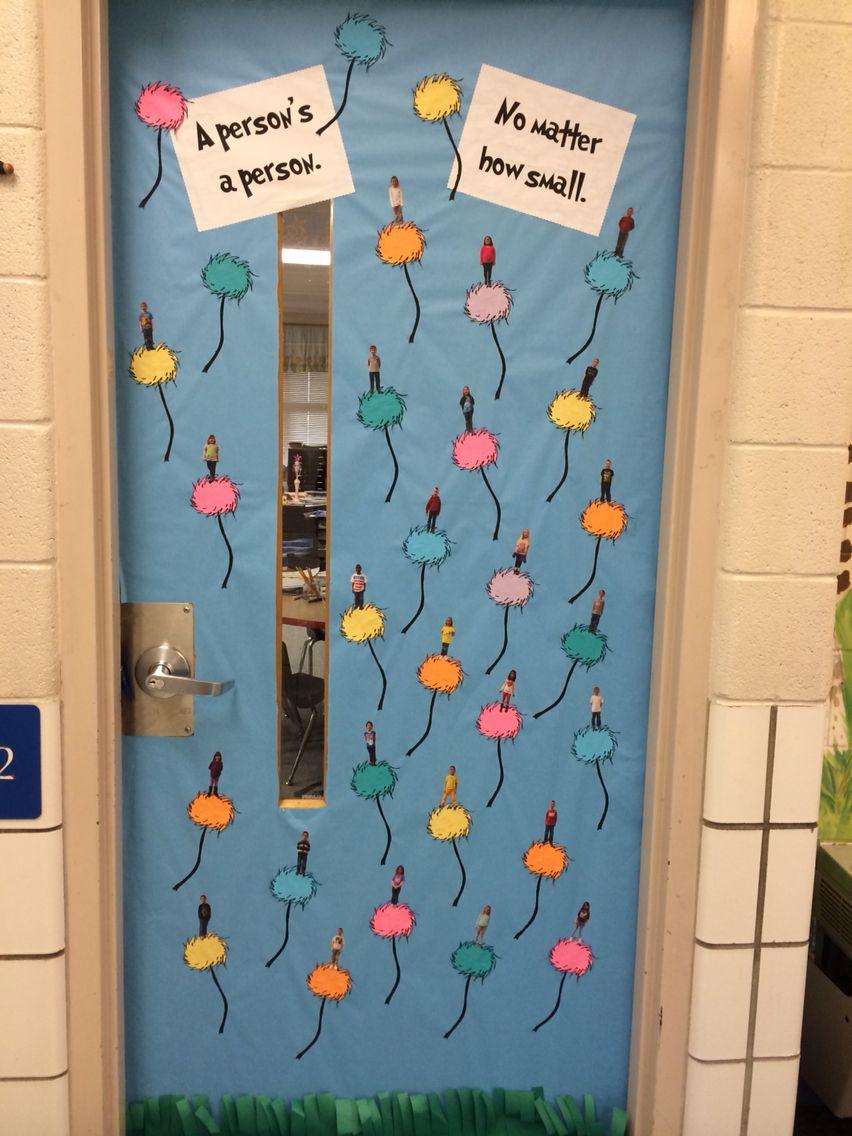 Dr. Seuss theme door, Horton Hears a Who