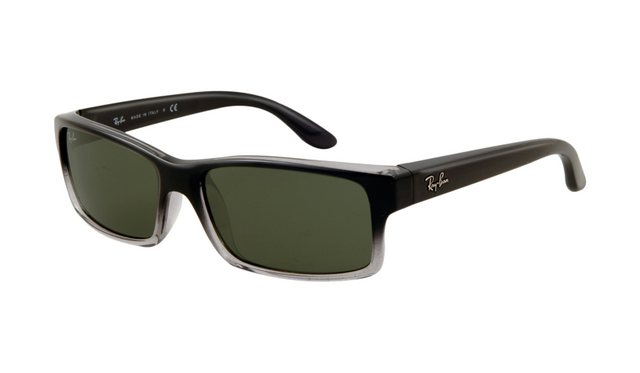 fdc2841ff8 Ray Ban RB4151 Sunglasses Gradient Black Frame Crystal Green Lens ...