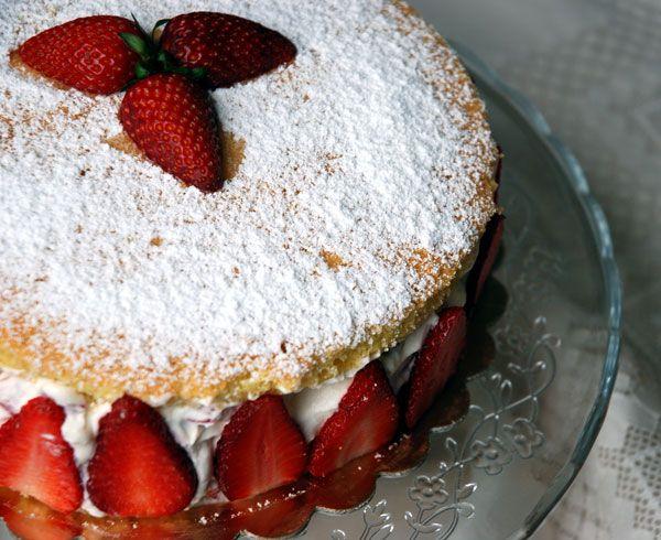 Torta+Genoise+alle+fragole