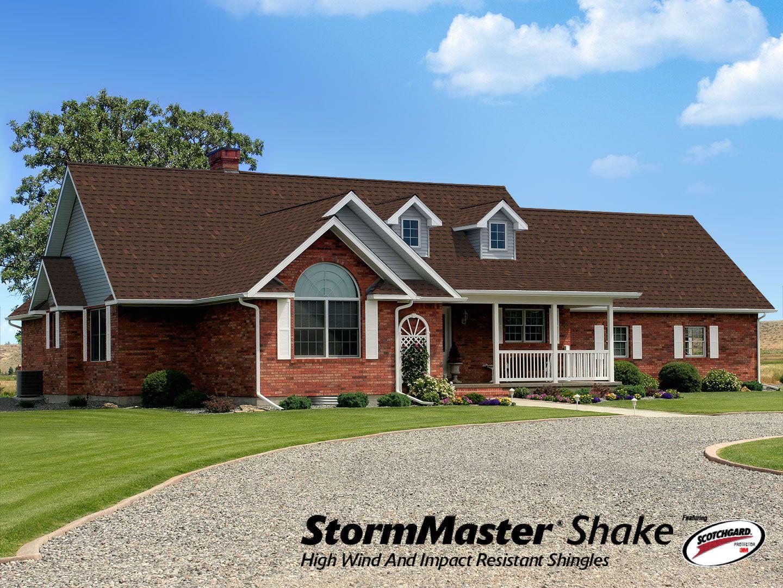 StormMaster Shake Atlas Roofing Shingles In Burnt Sienna