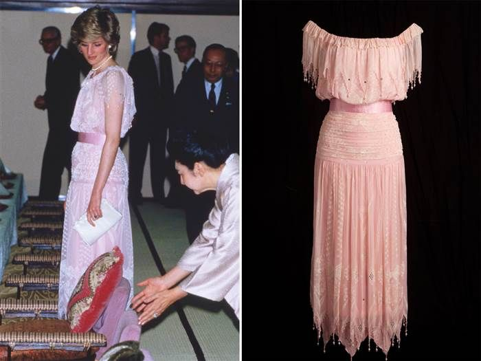 Princess Diana Chose This Zandra Rhodes Creation To Reference The Cherry Blossoms In Bloom During Her