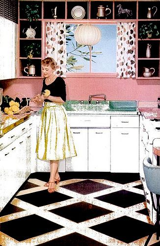 Kitchen 1955 Retro Home Decor 1950s Interior