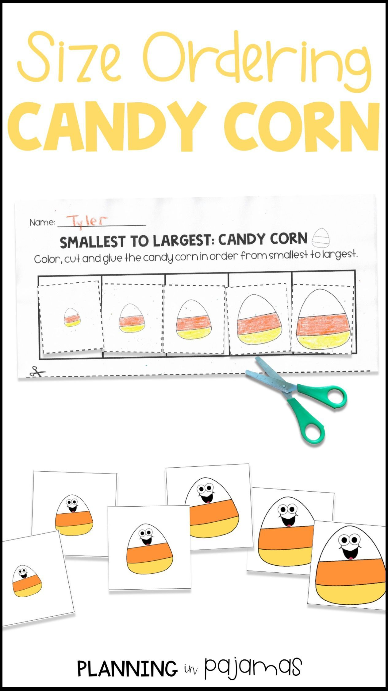 Candy Corn Size Ordering From Smallest To Largest
