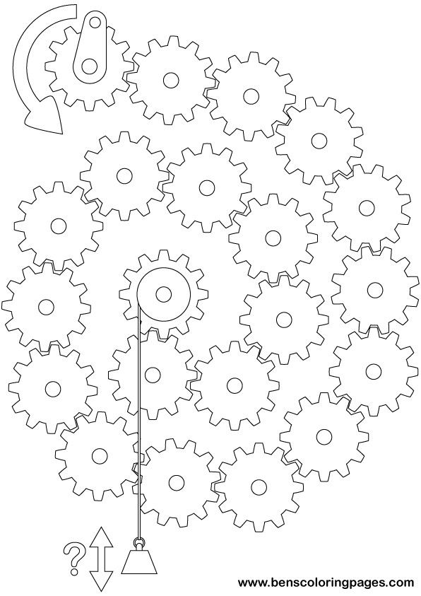 printable gears exercise