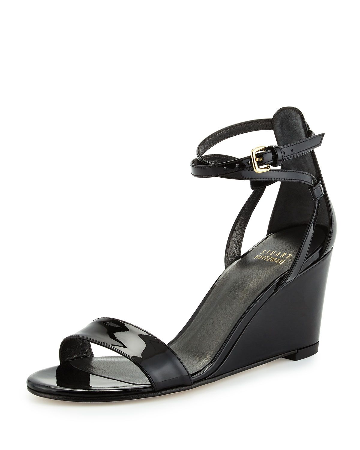 3ab30a681d2 Backdraft Patent Wedge Sandal