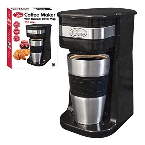 Quest Benross One Cup Filter Coffee Maker With Travel Mug And Lid 700 Watt