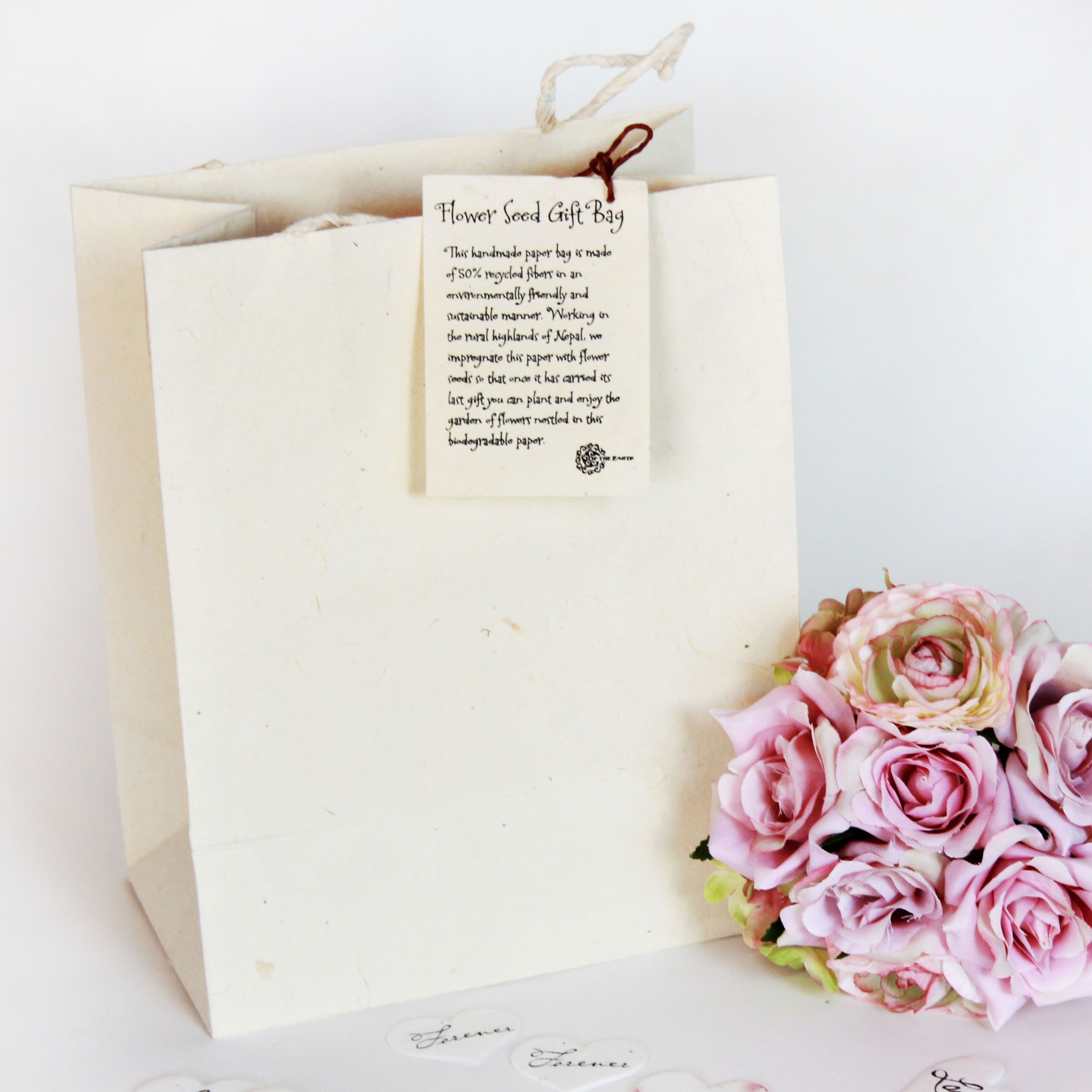 Handmade Seeded Paper Gift Bag - Large | Paper gift bags and Products