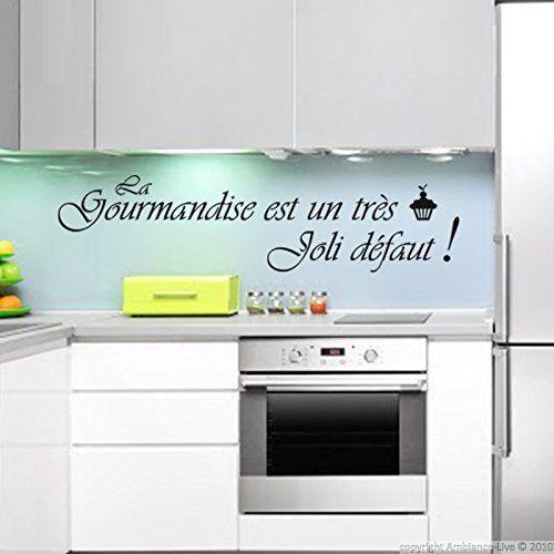 Ambiance-Live Sticker La gourmandise est un très joli défaut - Noir