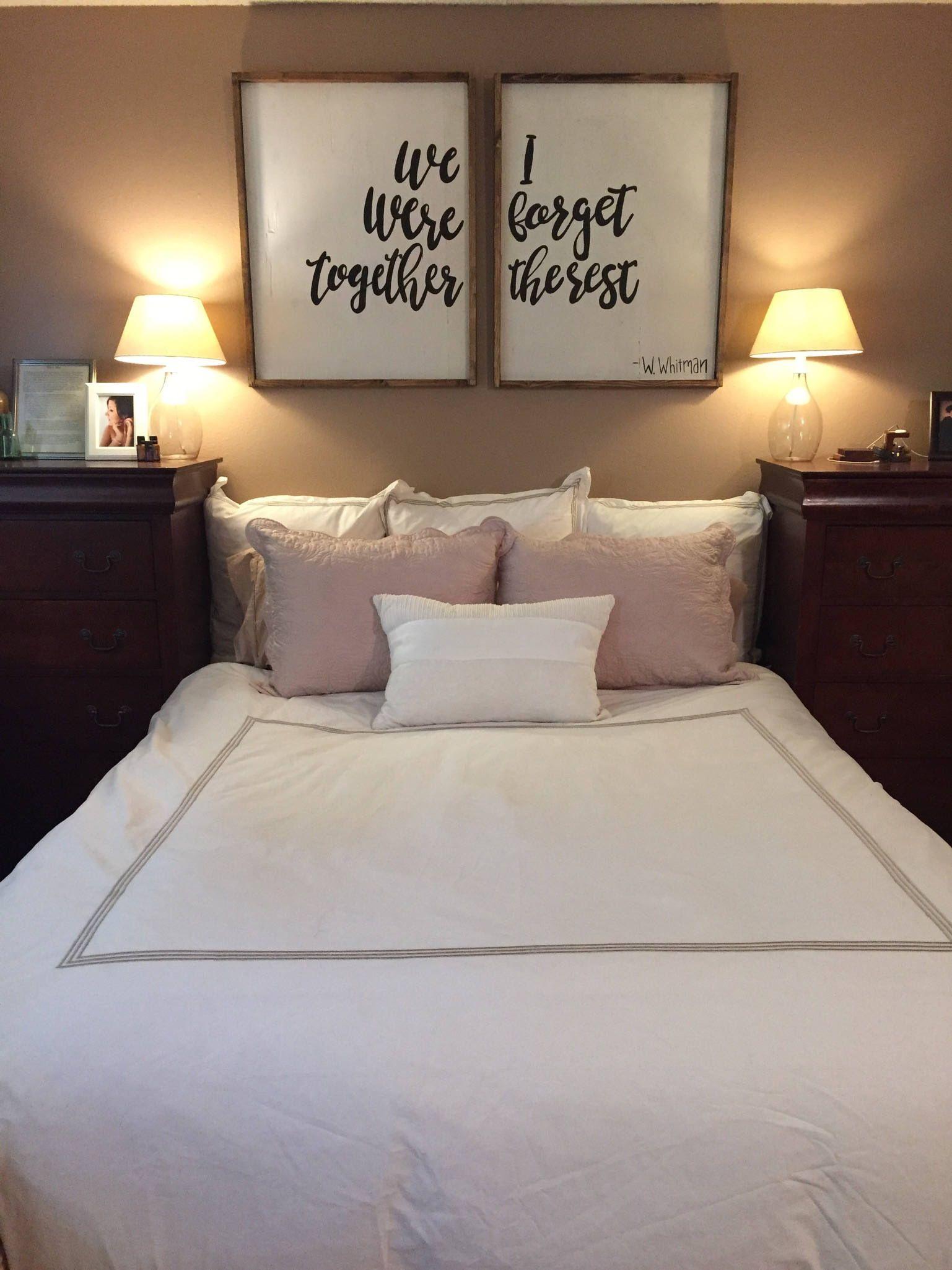 We Were Together, I Forget The Rest - Wood Sign | Bedroom ...