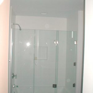 3 Panel Frameless Sliding Shower Door With Images Shower