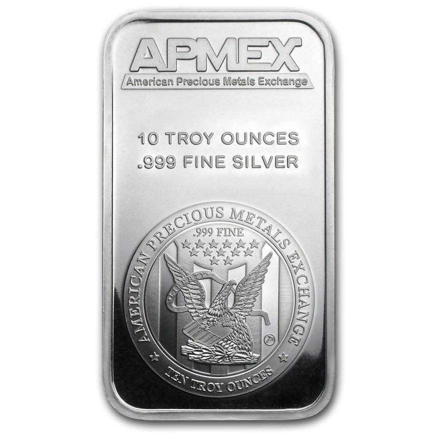 10 Oz Silver Bar Apmex 999 Fine Silver Silver Bars Buy Silver Online Apmex