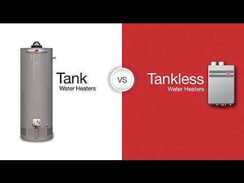 Tank Vs Tankless Water Heaters Tankless Water Heater Water