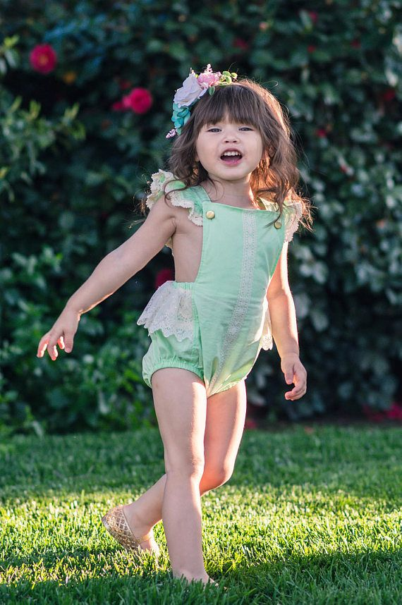 Baby Girl Romper  Baby Girl Clothes  Baby Girl Outfits  $58