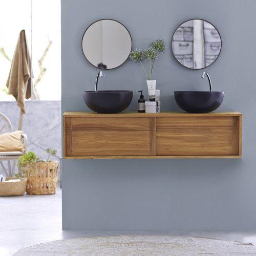 Badunterschrank Teak 140 Basic Wall Mounted Vanity Vanity Units Teak