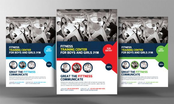 fitness training center flyer templa by business templates on