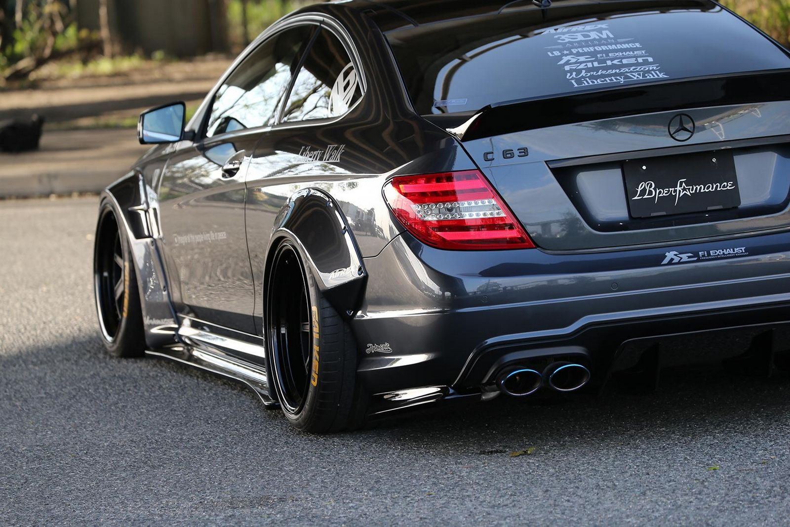 Liberty Walk Have Tuned The Mercedes Amg C63 Coupe And Sedan From Previous Generation