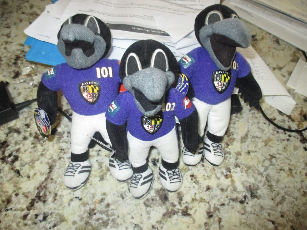 d15593cb Baltimore Ravens mascots Edgar,Allen, and Poe Mini Stuffed toys ...