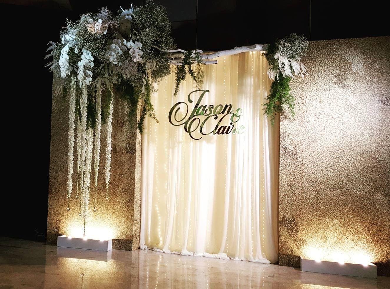 Pin by jessica wang on wedding decor pinterest for Wedding wall decor