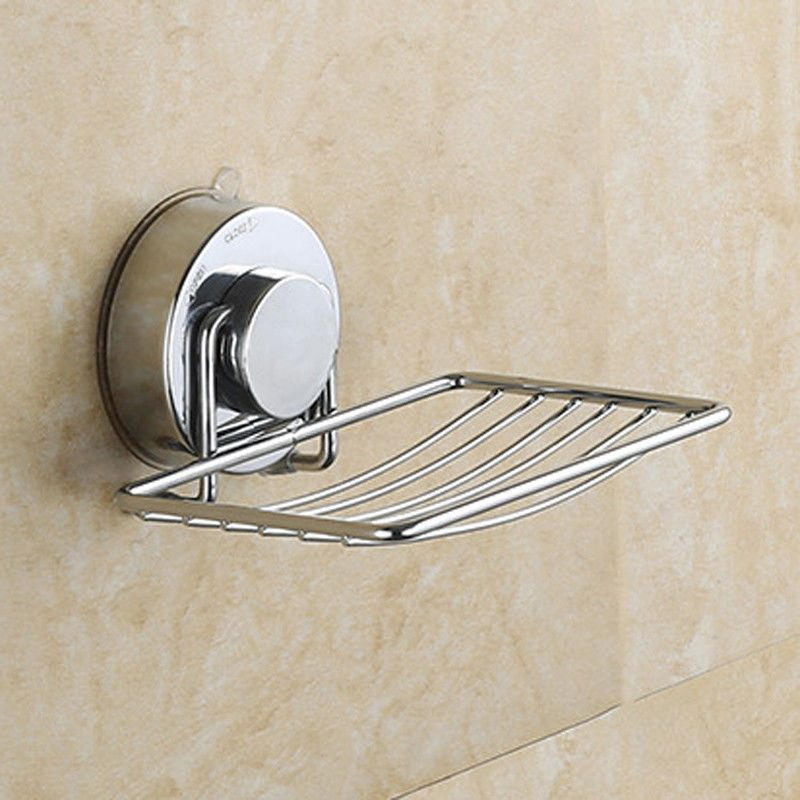 5 89 Wall Suction Cup Bathroom Bath Shower Stainless Steel Soap Dishes Holder Basket Ebay Home Garden Bathroom Soap Holder Soap Holder Bathroom Soap