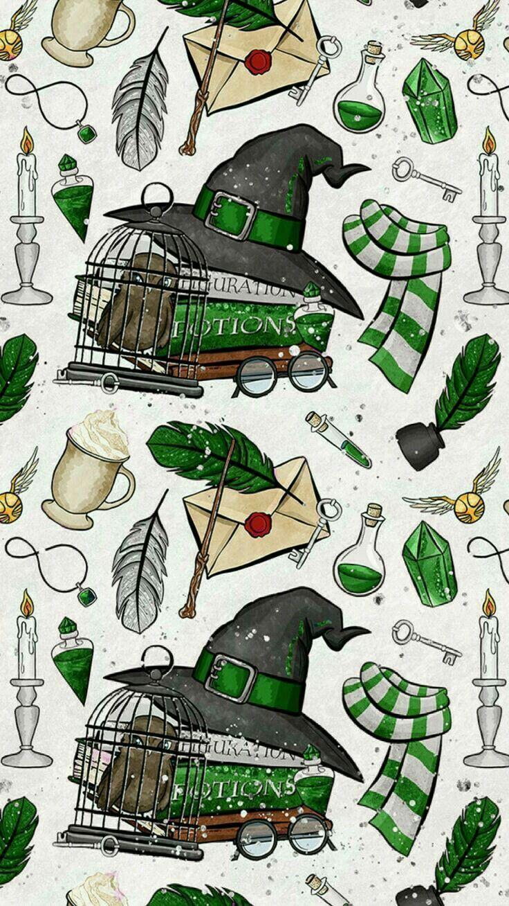 Slytherin Wallpaper Harry Potter Gracioso Peliculas De Harry